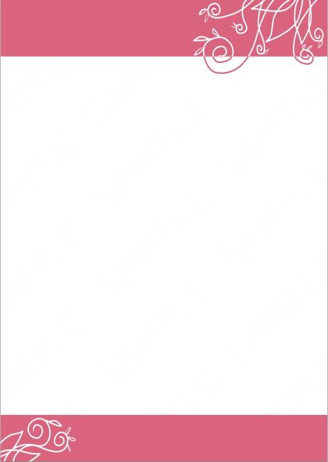【無料/レターヘッド】ツタ(ピンク)